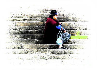 Photograph - Waiting Patiently On The Stairs by Al Bourassa