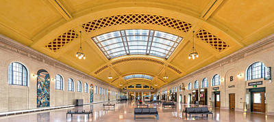 Terminal Photograph - Saint Paul Union Depot Waiting Room  by Jim Hughes
