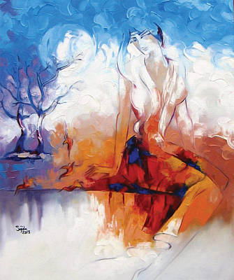 Abstract Painting - Beautiful Figurative Painting  by Sajida Hussain