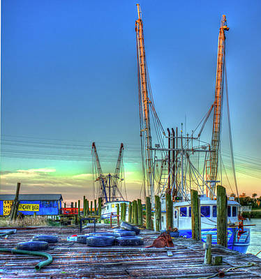 Photograph - Waiting Shrimp Boats Wilmington River Tybee Island Georgia Art by Reid Callaway