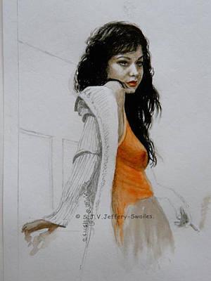 Painting - Waiting. by SJV Jeffery-Swailes