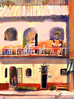 Waiting Tables Art Print