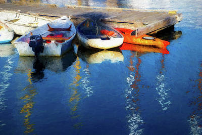 Row Boat Mixed Media - Waiting  by Terry Davis