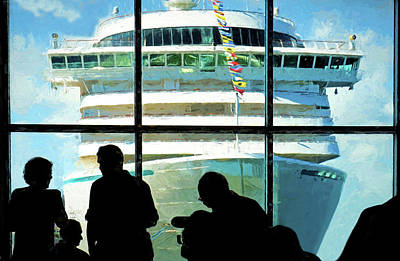 Digital Art - Waiting To Board by Dennis Cox Photo Explorer