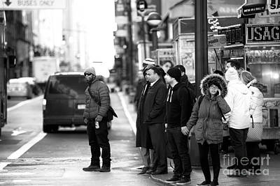 Photograph - Waiting To Cross In New York City by John Rizzuto