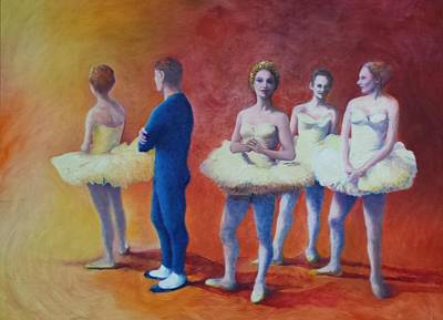 Painting - Waiting To Go On Stage by Herschel Pollard