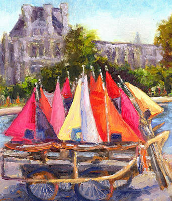 Louve Painting - Waiting To Sail by Niki Reynolds