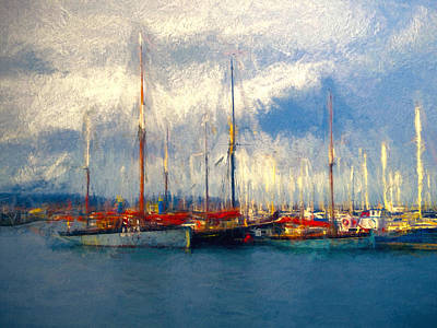 Brixham Harbour Painting - Waiting To Sail by Sharon Lisa Clarke
