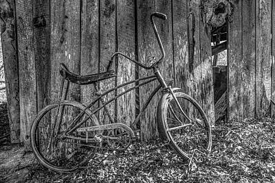 Photograph - Waiting To Take A Ride Black And White by Debra and Dave Vanderlaan