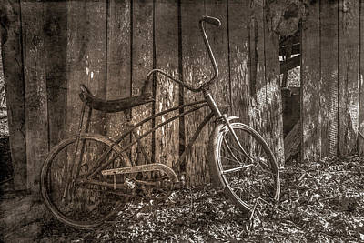 Photograph - Waiting To Take A Ride Sepia Tones by Debra and Dave Vanderlaan