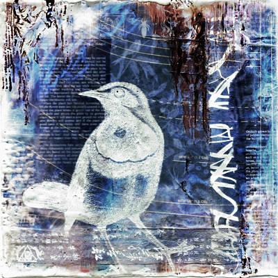 Magpies Mixed Media - Waitng by Brenda Erickson