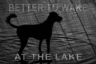 Photograph - Wake At The Lake Sign by Jeff Phillippi