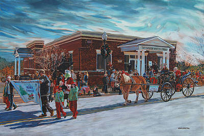 Wake Forest Christmas Parade Art Print by Tommy Midyette