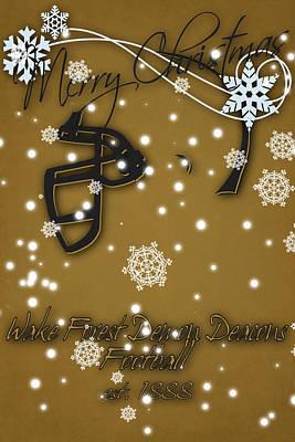 Wake Forest Demon Deacons Christmas Card Art Print by Joe Hamilton