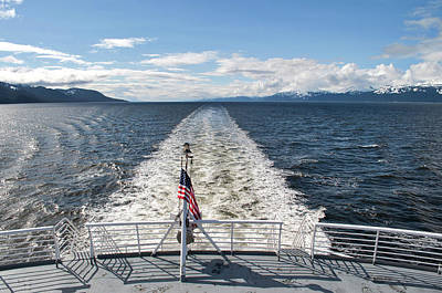 Photograph - Wake In Lynn Canal - Alaska Marine Highway by Cathy Mahnke