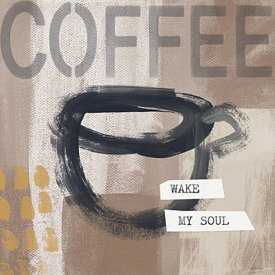 Black Mixed Media - Wake My Soul- Art By Linda Woods by Linda Woods