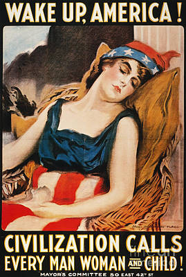 Photograph - Wake Up America Poster by Granger