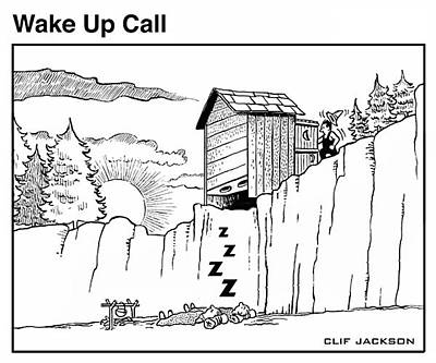 Drawing - Wake Up Call by Clif Jackson
