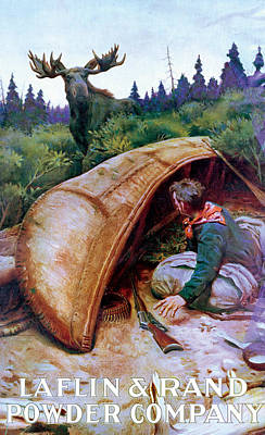 Canoe Painting - Wake Up Call by Phillip R Goodwin