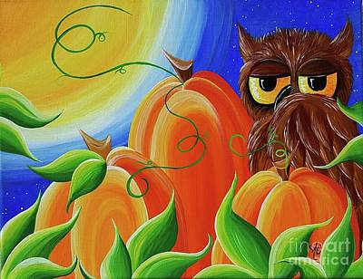 Owls Painting - Wake Up Fall by Amanda Gervais