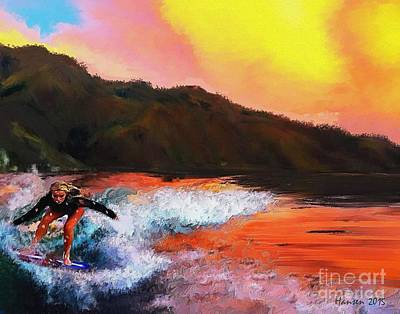 Wakeboard Painting - Wakeboard Competition by Phil Hansen