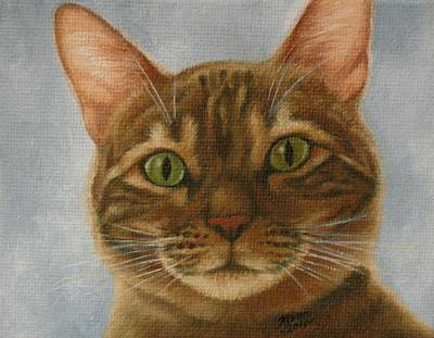 Cat Painting - Wakey Wakey by Karen Coombes