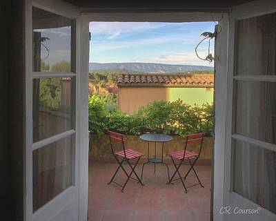 Photograph - Waking Up In Roussillon by CR Courson