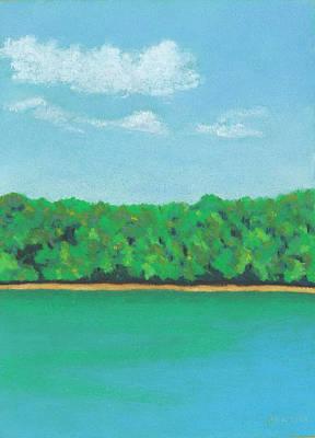 Pastel - Walden Pond by Anne Katzeff