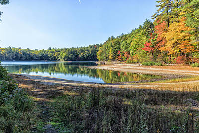 Thoreaus Cabin Photograph - Walden Pond by Brian MacLean