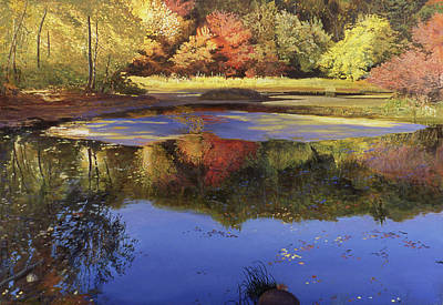 Concord Massachusetts Painting - Walden Pond II by Art Chartow