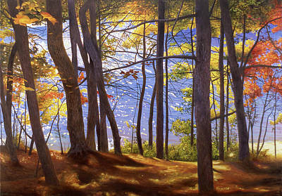 Walden Pond Painting - Walden Pond IIi by Art Chartow