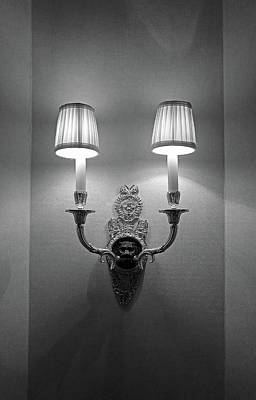 Photograph - Waldorf Astoria Fixture Study 1 by Robert Meyers-Lussier