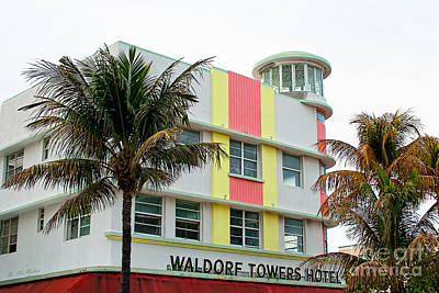 Photograph - Waldorf Towers Hotel - Art Deco Architecture by Barbara McMahon