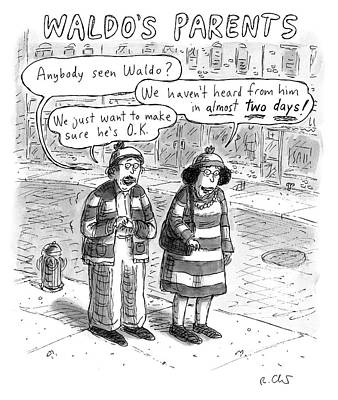 Drawing - Waldos Parents by Roz Chast