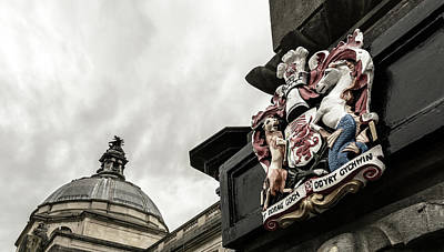 Photograph - Wales Coat Of Arms On Obelisk B by Jacek Wojnarowski