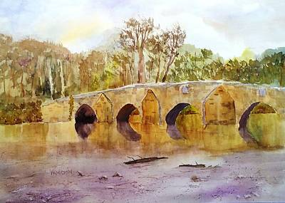 Painting - Wales Dipping Bridge by Larry Hamilton