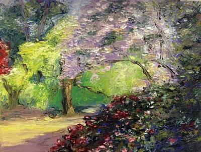 Painting - Wales Garden by Natascha de la Court