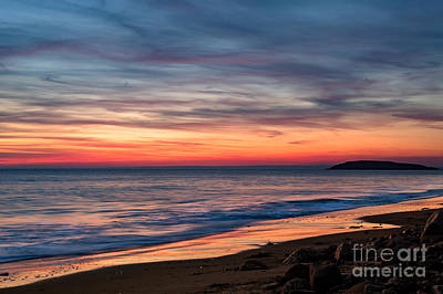 Photograph - Wales Gower Coast Dusk by Minolta D