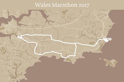 Wales Digital Art - Wales Marathon #1 by Big City Artwork
