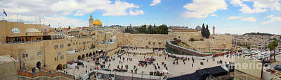 Extremism Photograph - Haram Al Sharif / Temple Mount Panorama - Israel / Palestine by Wietse Michiels