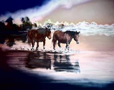 Painting - Walk 2 by Vesna Martinjak