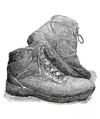 Fundraiser Drawing - Walk A Mile In My Shoes-john Casanover Ms Project by Michael Volpicelli