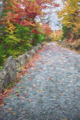 Maine Roads Digital Art - Walk Along II by Jon Glaser