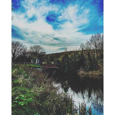 Marsh Photograph - Walk Around West Hythe #canal by James Young