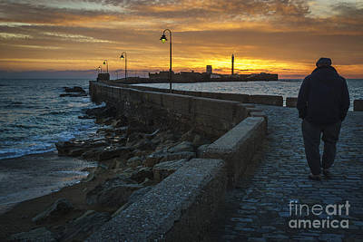 Photograph - Walk At Dusk Cadiz Spain by Pablo Avanzini