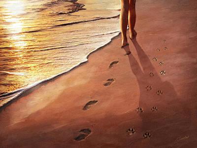 Walk Beside Me Art Print by Cliff Hawley
