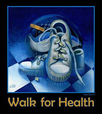 Painting - Walk For Health Poster by Roger Calle