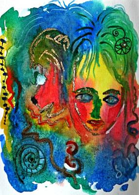 Intuitive Painting - Walk In Beauty With My Animal Spirit by Dagmar Batyahav
