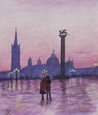 Painting - Walk In Italy In The Rain by Dan Wagner