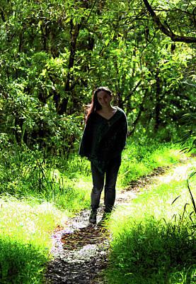 Photograph - Walk In Sunlit Path by Miroslava Jurcik